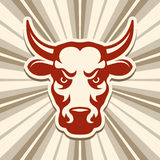 Label with a Bull Stock Photography
