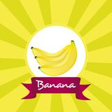 Label of bunch of bananas Stock Images