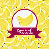 Label of bunch of bananas Stock Photo