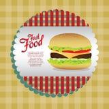 Label burger Stock Photo