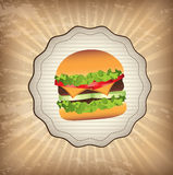 Label burger Stock Photography