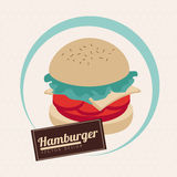 Label burger Stock Photo