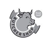 Label of butcher shop Royalty Free Stock Photo