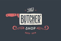 Label of Butchery meat shop Stock Photo