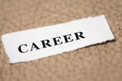 Label for career Stock Images