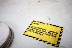 Label  caution Stock Image