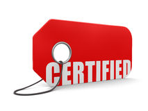 Label Certified (clipping path included) Royalty Free Stock Images