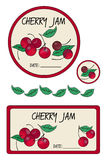 Label cherry jam stock illustration