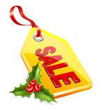 Label Christmas sale. Stock Photos