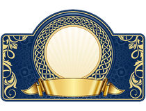 Label with circle frame Royalty Free Stock Images