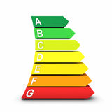 Energy consumption scale Royalty Free Stock Image