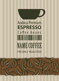 Label for coffee beans Royalty Free Stock Images