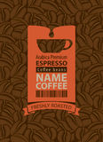 Label for coffee beans Stock Photos