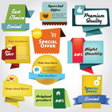 Label collection. Colorful label collection with icons Royalty Free Stock Image