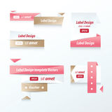 Label Collection of Sale Discount love color. Vector eps 10 Royalty Free Stock Image