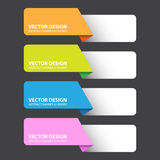 Label coloré abstrait, travail de vecteur Image libre de droits