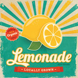 Label coloré de limonade de vintage Image libre de droits