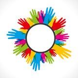 Label coloré de main Image libre de droits
