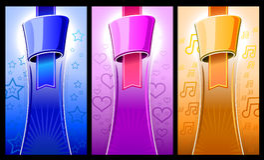 Label color set with elements shape Stock Photos