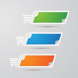Label Colorful Paper shopping set,  Royalty Free Stock Images