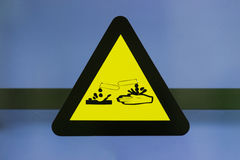 Label corrosive chemicals Stock Photos