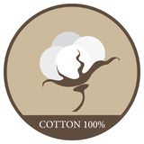 Label for cotton Royalty Free Stock Photography