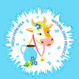 Label of cow Royalty Free Stock Images
