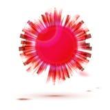 Label créatif de forme de cercle rouge pour la présentation lumineuse illustration libre de droits