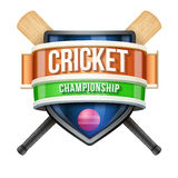 Label for cricket sport competition. Bright Stock Image