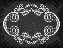 Label with curls and whorls Royalty Free Stock Photography