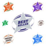 Label d'étoile de best-seller Images libres de droits