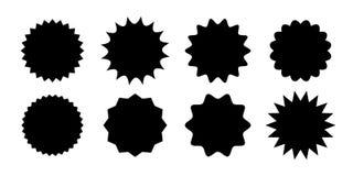 Label d'étoile de vecteur de starburst d'autocollant de vente de promo illustration libre de droits