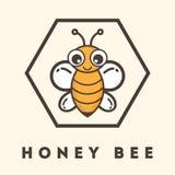 Label d'abeille de bande dessinée image libre de droits