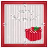 Label d'eco de Noël avec le cadeau Photographie stock libre de droits