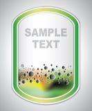 Label d'inscription - structure moléculaire - fond abstrait illustration stock