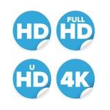 Label d'ison de résolution de HD Photographie stock