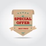 Label d'offre spéciale Image stock