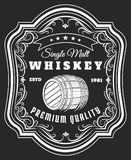 Label de baril de whiskey illustration de vecteur