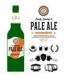 Label de bière de vecteur sur la bouteille image stock