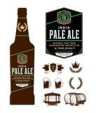 Label de bière de vecteur sur la bouteille images libres de droits