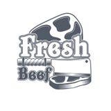Label de boucherie Étiquette organique des textes du titre 3D Illustration de vecteur Images libres de droits