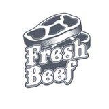 Label de boucherie Étiquette organique des textes du titre 3D Illustration de vecteur Images stock