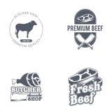 Label de boucherie Étiquette organique des textes du titre 3D Illustration de vecteur Photos stock
