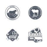 Label de boucherie Étiquette organique des textes du titre 3D Illustration de vecteur Photo stock