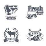Label de boucherie Étiquette organique des textes du titre 3D Illustration de vecteur Photos libres de droits