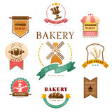 Label de boulangerie Photos stock