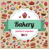 Label de boulangerie Images libres de droits