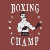 Label de boxeur de vintage illustration libre de droits