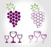 Label de carte des vins Photos stock