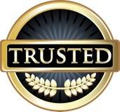 Label de confiance de produit de noir et d'or illustration stock